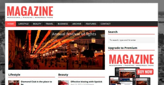Шаблон Wordpress - MH Magazine lite