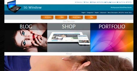 Шаблон Wordpress - SG Window