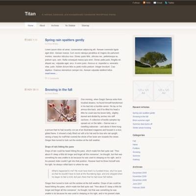 Шаблон WordPress - Titan