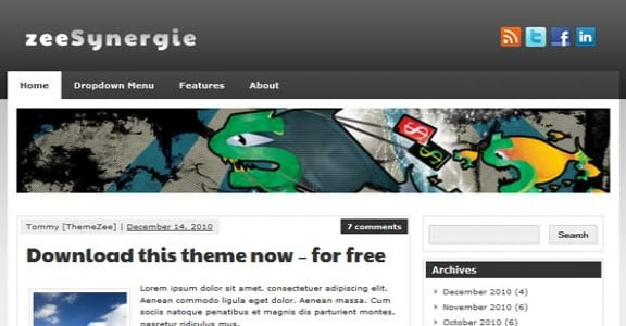 Шаблон Wordpress - zeeSynergie