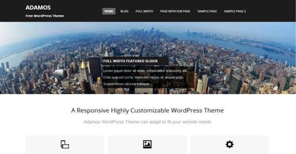 Шаблон Wordpress - Adamos