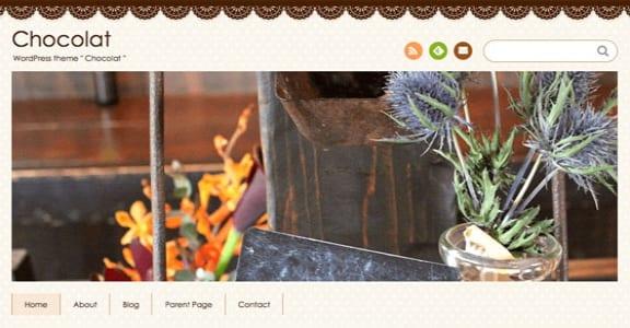 Шаблон Wordpress - Chocolat