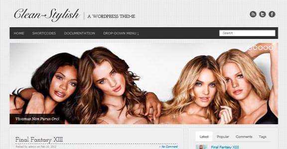 Шаблон Wordpress - Clean-Stylish