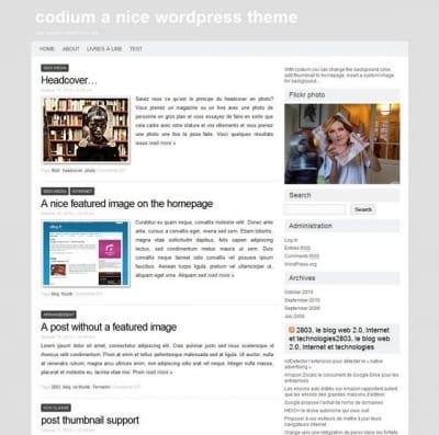 Шаблон WordPress - Codium