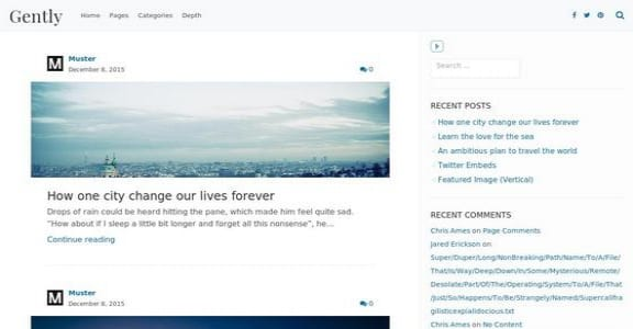 Шаблон Wordpress - Gently