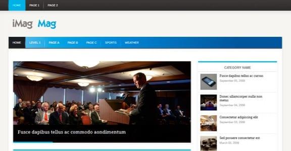 Шаблон Wordpress - iMag Mag