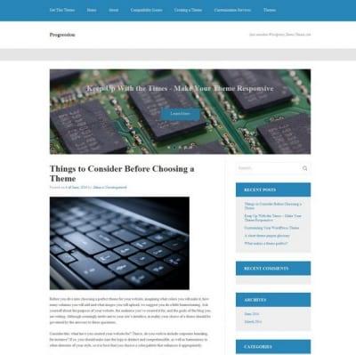 Шаблон WordPress - Progression