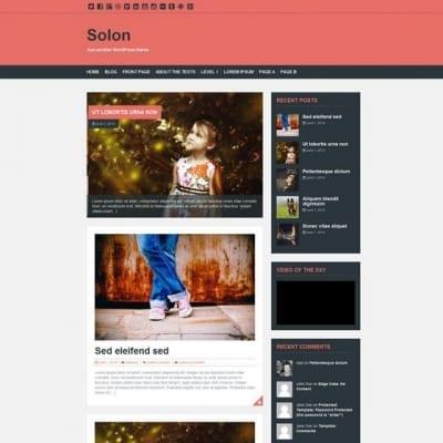 Шаблон WordPress - Solon