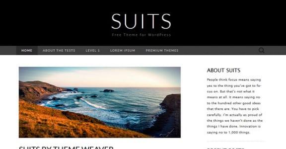 Шаблон Wordpress - Suits