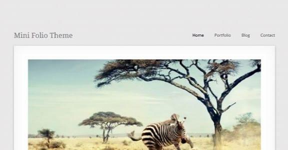 Шаблон Wordpress - MiniFolio