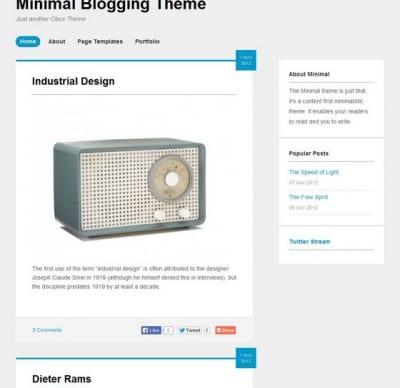 Шаблон WordPress - Minipress