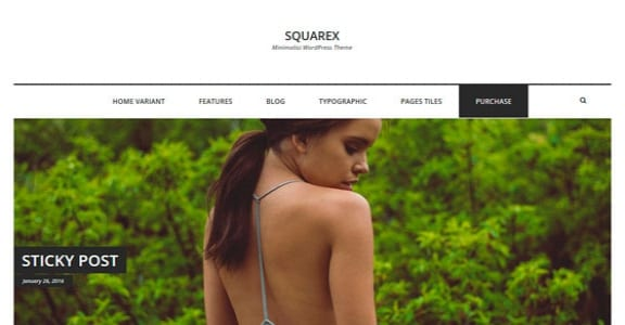 Шаблон Wordpress - Squarex Lite