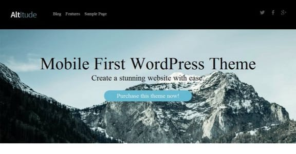 Шаблон Wordpress - Altitude Lite