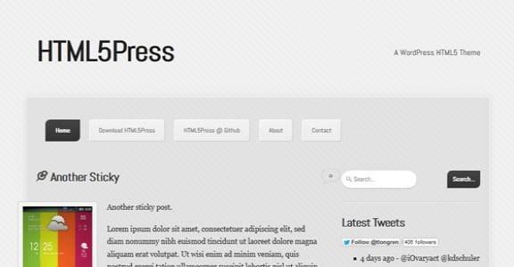 Шаблон Wordpress - HTML5Press