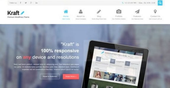 Шаблон Wordpress - Kraft Lite