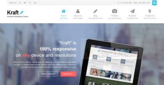 Шаблон Wordpress - Kraft Lite