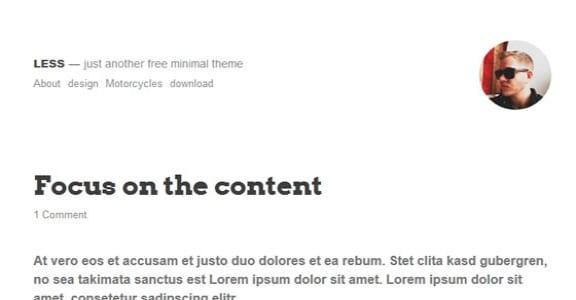 Шаблон Wordpress - Less