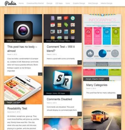 Шаблон WordPress - Pinbin
