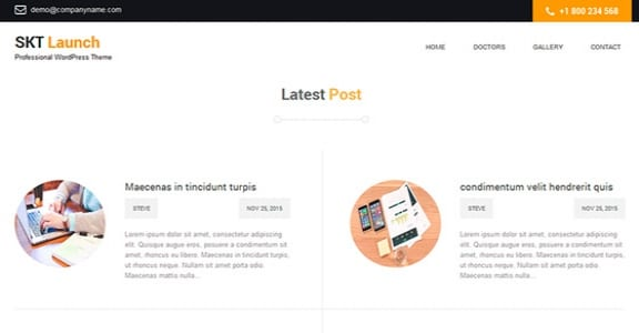 Шаблон Wordpress - SKT Launch