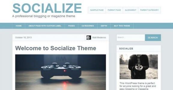 Шаблон Wordpress - Socialize Lite