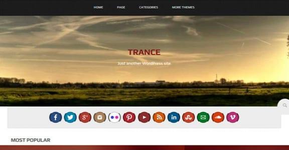 Шаблон Wordpress - Trance
