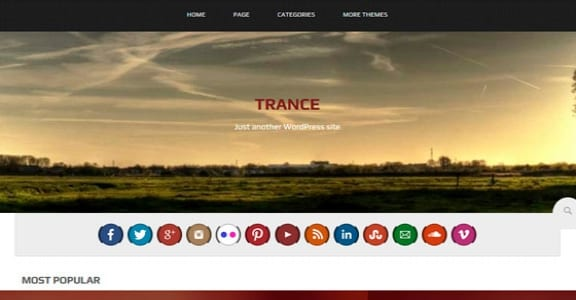 Шаблон Wordpress - Trance