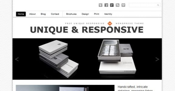 Шаблон Wordpress - Unique Responsive