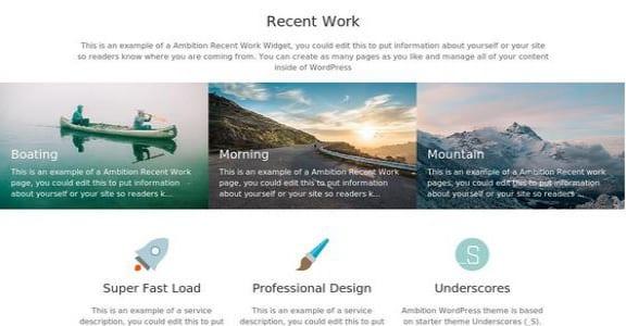 Шаблон Wordpress - Ambition