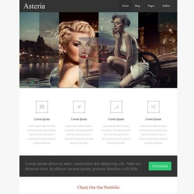 Шаблон WordPress - Asteria Lite