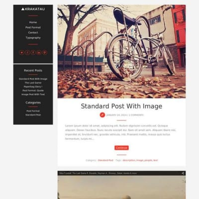 Шаблон WordPress - Krakatau Lite