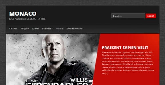 Шаблон Wordpress - Monaco