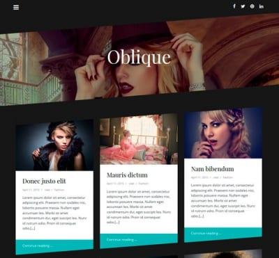 Шаблон WordPress - Oblique