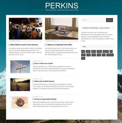 Шаблон WordPress - Perkins