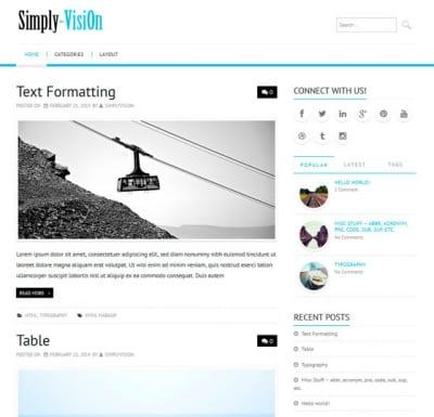 Шаблон WordPress - Simply-VisiOn