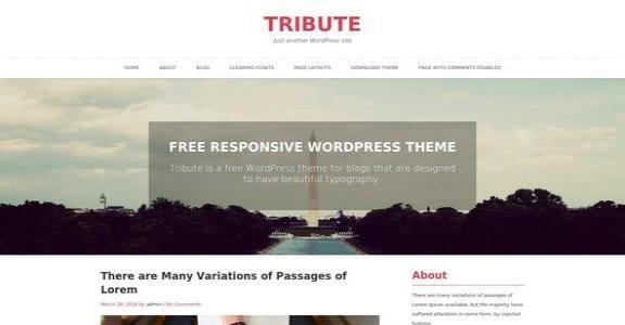 Шаблон Wordpress - Tribute