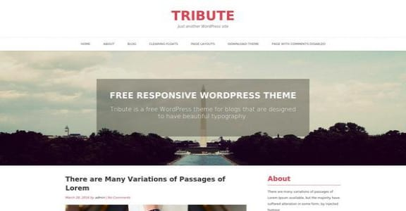 Шаблон Wordpress - Tribute
