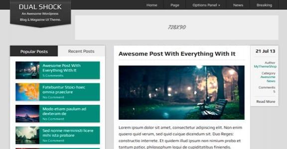 Шаблон Wordpress - DualShock