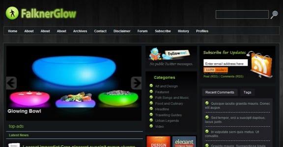 Шаблон Wordpress - Falkner Glow