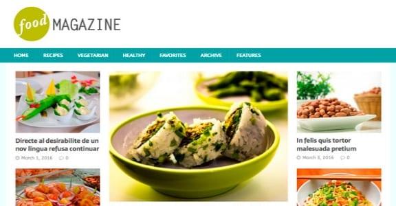 Шаблон Wordpress - MH FoodMagazine