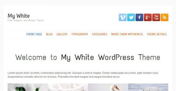 Шаблон Wordpress - My white