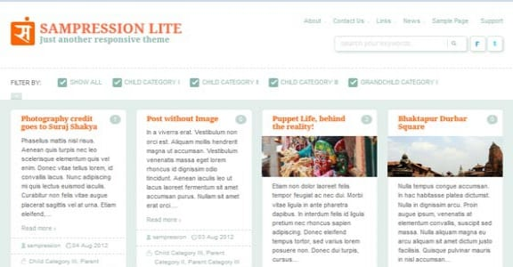 Шаблон Wordpress - Sampression Lite