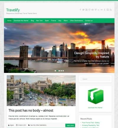 Шаблон WordPress - Travelify