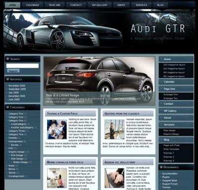 Шаблон WordPress - Audi GTR FlexiMag