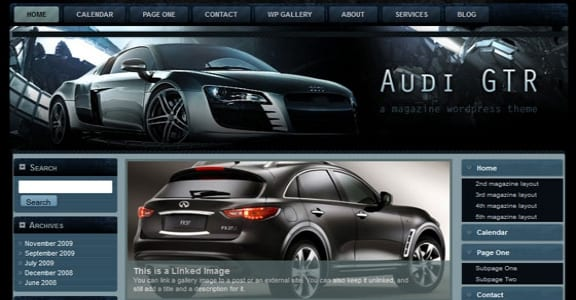 Шаблон Wordpress - Audi GTR FlexiMag
