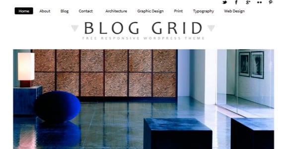 Шаблон Wordpress - BlogGrid Responsive