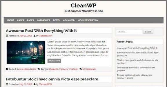 Шаблон Wordpress - CleanWP