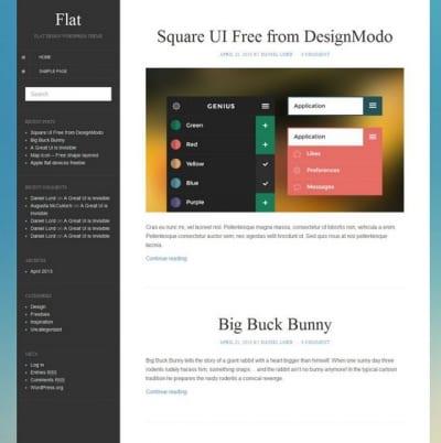 Шаблон WordPress - Flat