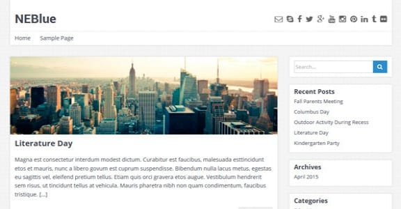 Шаблон Wordpress - NEBlue