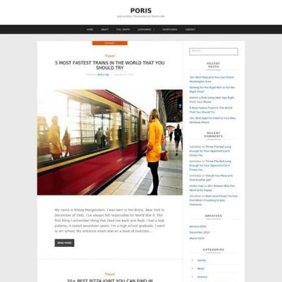 Шаблон WordPress - Poris