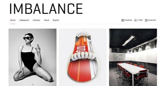 Шаблон Wordpress - Тема Imbalance